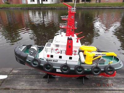 RC Hafenschlepper / Küstenwach , detailgetreu, mit Wasserspritzfunktion - 2,4Ghz