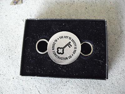 Unique Metal Al Cohen Construction Co Key Ring Nib Look