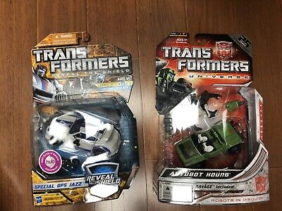 Transformers Reveal the Shield RTS Jazz & Universe Hound MOSC NEW