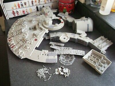 "Star Wars 2008 Millennium Falcon Legacy 3.75"" Hasbro - spare sections bundle"