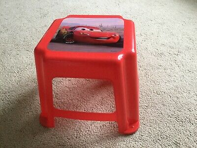 Kids Only! Disney Cars Red B&B Step Stool Lightweight Kids Washable Surface