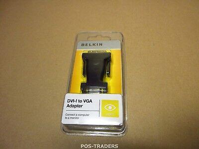 BELKIN F2E4162CP DVI / VGA Adapter [1x DVI plug 17-pin - 1x VGA socket] NEW NEU