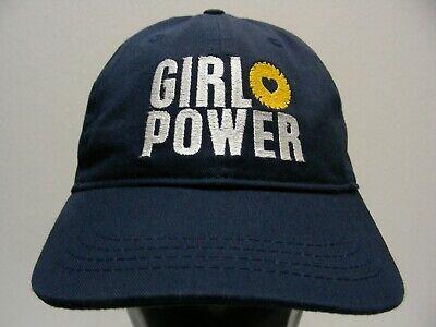 Girl Power Cap (GIRL POWER - PARR LUMBER - NAVY BLUE - ADJUSTABLE STRAPBACK BALL CAP HAT)