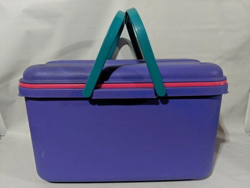 "Eagle Craftstor Organizer 20""x11"" Storage Tote - Vintage Made in USA"
