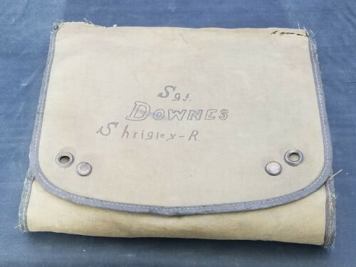 WWII US Army Personal Bag NAMED