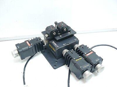 Melles Griot Nanomax-ts 17max303 Xyz 3-axis Stage W 3 Drv001 Stepper Motor Driv