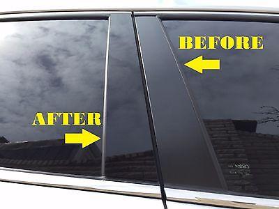 Fits Toyota FJ Cruiser 2007-2014 Piano Glossy Black Pillar Posts Trim 4PCS