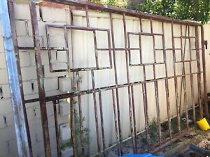 Big steel gates with post $100