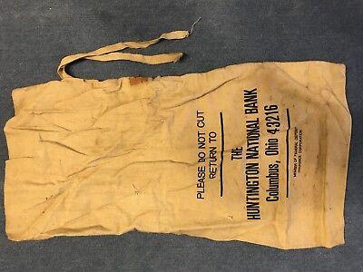 Canvas Bank Bag Marked The Huntington National Bank Columbus Oh