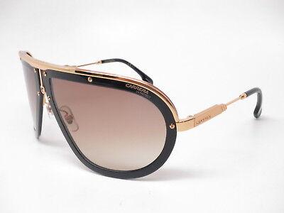 New Authentic Carrera Americana 2M286 Black/Gold with Brown Gradient (Carrera Sunglasses Black Gold)
