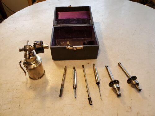 Antique Medical Cauterize Kit BRASS GOODS MFG. CO BROOKLYN NEW YORK w Burner GR8