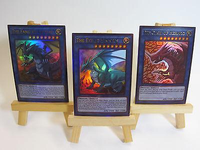 Proxy  Orica Custom Legendary Dragons 3 Cards Ultra Rare Timaeus Critias Hermos