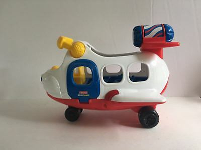 Fisher Price Little People Airplane Sounds Music Pilot + 2 Figures Other