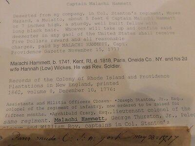 French & War Rev War Capt Malachi Hammet to Col Seymour Land Grants Florida 20