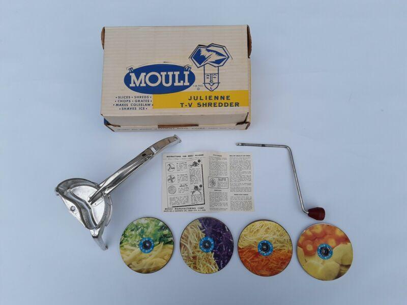 Vintage MOULI Julienne shredder Salad Maker Complete.Greatest TV Sensation