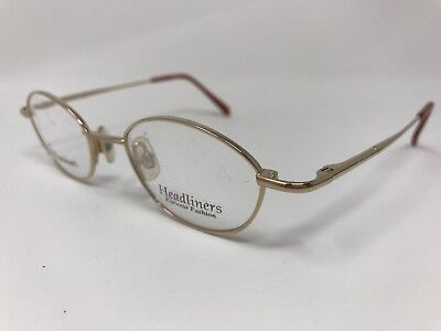 Headliners Eyeglass Frame Titanium Collection TC-5 GR1 Gold Frame 45-18-130 (Headliners Eyeglasses)