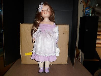 """Large 26"""" Duck House Heirloom Porcelain Doll w/ Tags"""
