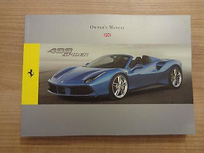 Ferrari 488 Spider Owners Handbook/Manual
