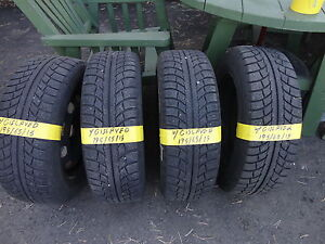 4 WINTER TIRE WITH RIMS 195/65/R15 OFF VW GOLF 90%