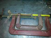 """2 x Vintage G Clamps 6"""" & 10"""" Heavy Duty in Excellent Condition Wynn Vale Tea Tree Gully Area Preview"""