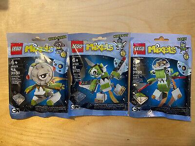 Lego Mixels Series 4 Rokit 41527, Niksput 41528, Nurp-Naut 41529 NEW