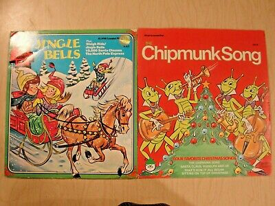 Lot of 2 - The Chipmunk Song Happy Holiday & Jingle Bells, Peter Pan Records 45 ()
