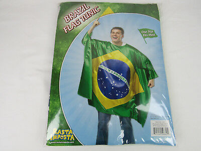 Brazil Flag Tunic Adult Unisex Halloween Costume WORLD CUP Soccer Fan - World Cup Costume
