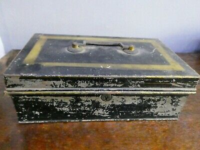 Vintage Metal Deed Box / Cash Box, No Key