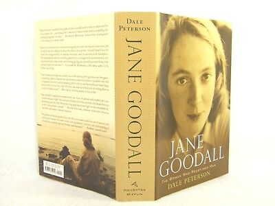 Jane Goodall   The Woman Who Redefined Man By Dale Peterson 2006  Hc Vg Signed