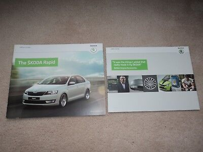 Skoda Rapid (Incl. S - SE - Elegance)  Brochure Pack - 2013 -  Mint