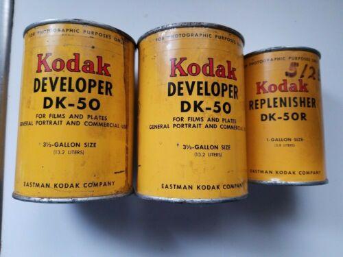 3 KODAK DK-50 DEVELOPER POWDER FOR FILM AND PLATES
