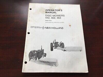 New Holland 442 462 463 Disc Mower Operators Manual