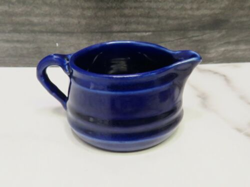 Hampshire Pottery Cobalt Blue Creamer Arts And Crafts