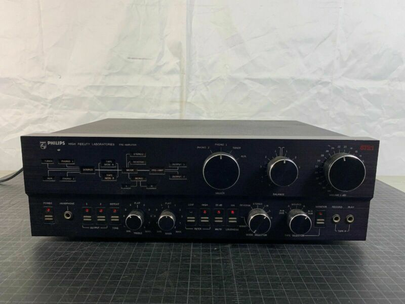 PHILIPS High Fidelity Labs Pre Amplifier Model 5721 *Working Great*