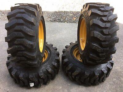 4-12-16.5 Hd Skid Steer Tires On Wheelsrims For John Deere-12x16.5-camso Sks732