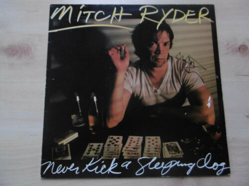 "Mitch Ryder Autogramm signed LP-Cover ""Never Kick a Sleeping Dog"" Vinyl"