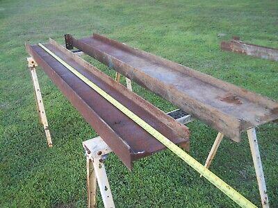 2- Construction Steel I Beams 10 Inch Web X 4 Inch Flange X 8 Long