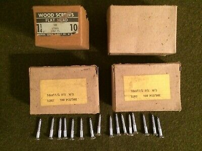 Lot-flat Head Wood Screws 10 1.25 Inches Long-400 Count