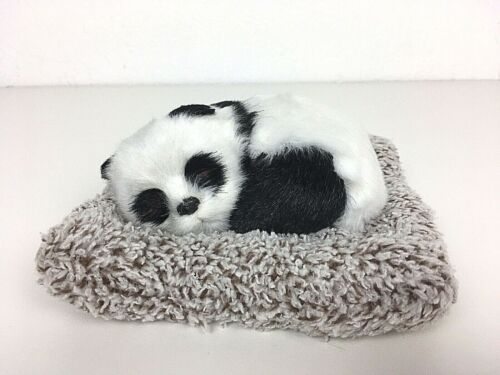 Panda Bear Cub on Blanket Figure Figurine Faux Fur Super Soft RARE HTF NWOT EXC