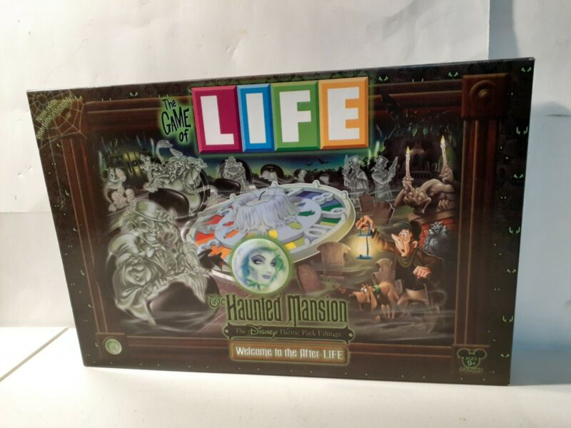 Game of Life Disney Haunted Mansion Theme Park Edition Board Game Hasbro 2009