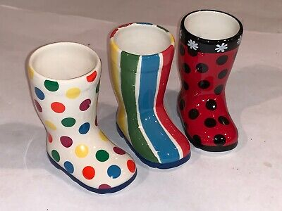 YANKEE CANDLE Lot of 3 Ceramic Boots