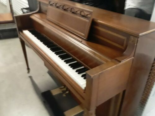 story & clark piano from 1962 w/original welcome letter & warranty certificate