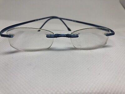 Silhouette Rimless Rx Eyeglasses Frames Blue Child SPX 2500 00 Kids (Silhouette Kids Glasses)