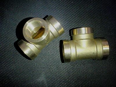 Brass 34 Npt Tee Pipe Fitting Bte075