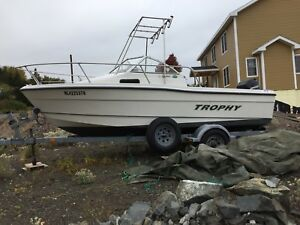 19' Trophy Boat with trailer