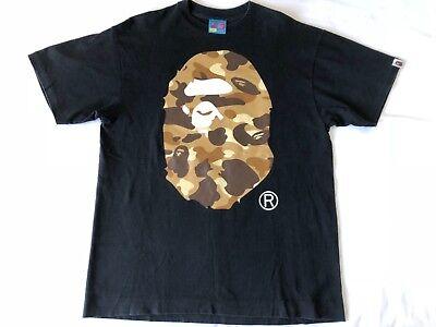 A Bathing Ape Harajuku Street Japanese fashion Bape big head camouflage T-shirt