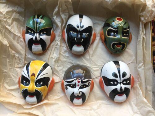 Chinese Porcelain Masks set, Vintage