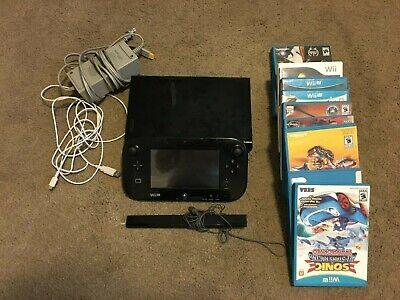 Nintendo Wii U 32GB Console - Black (w/ 11 games!)