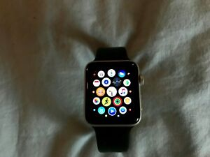 Apple Watch Series 2 Aluminum 42mm space gray with black band