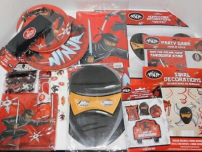 Ninja Birthday Party Plates Napkins Table Cover Punch Balloons Swirl Decorations